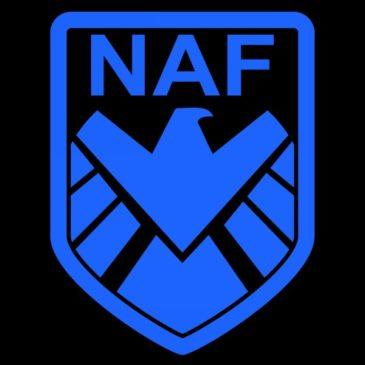 Наклейка NAF (большая)